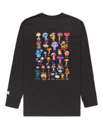 1 Shrooms Guide - Camiseta de Manga Larga para Hombre Negro Z1LSE2ELF1 Element