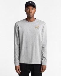 2 Transender - T-shirt manches longues pour Homme Gris Z1LSE4ELF1 Element