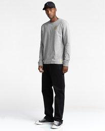 4 Transender - T-shirt manches longues pour Homme Gris Z1LSE4ELF1 Element