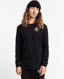 2 Transender - T-shirt manches longues pour Homme Noir Z1LSE4ELF1 Element