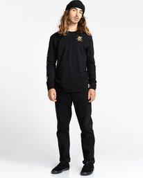 4 Transender - T-shirt manches longues pour Homme Noir Z1LSE4ELF1 Element