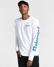 3 Joint - T-shirt manches longues pour Unisexe Blanc Z1LSE5ELF1 Element