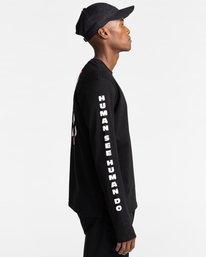 3 Pota Surge - Long Sleeve T-Shirt for Unisex Black Z1LSE9ELF1 Element