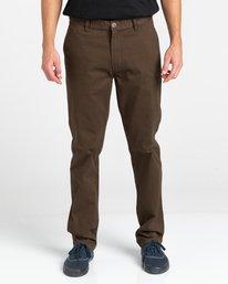2 Howland Classic - Pantalon chino pour Homme Marron Z1PTC5ELF1 Element