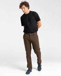 4 Howland Classic - Pantalon chino pour Homme Marron Z1PTC5ELF1 Element
