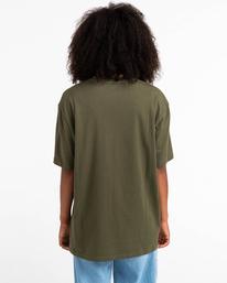 5 Basic Label - T-Shirt for Unisex Green Z1SSI1ELF1 Element