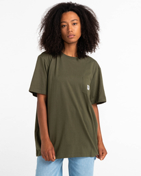 1 Basic Label - T-Shirt for Unisex Green Z1SSI1ELF1 Element