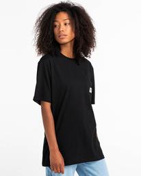2 Basic Label - Camiseta para Unisex Negro Z1SSI1ELF1 Element