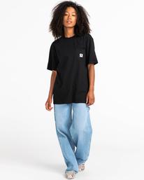 4 Basic Label - Camiseta para Unisex Negro Z1SSI1ELF1 Element
