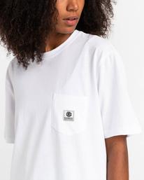 3 Basic Label - T-shirt pour Unisexe Blanc Z1SSI1ELF1 Element