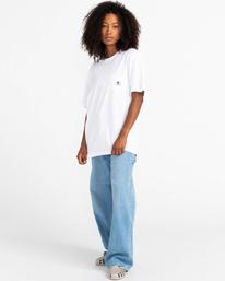 4 Basic Label - T-shirt pour Unisexe Blanc Z1SSI1ELF1 Element