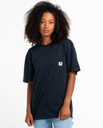 1 Basic Label - T-shirt pour Unisexe Bleu Z1SSI1ELF1 Element
