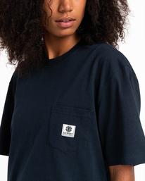 3 Basic Label - T-shirt pour Unisexe Bleu Z1SSI1ELF1 Element
