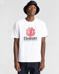 1 Vertical - Camiseta para Hombre Blanco Z1SSI4ELF1 Element