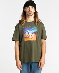 1 Dusky - Camiseta para Hombre Verde Z1SSJ7ELF1 Element
