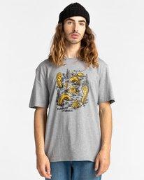 1 Cracks - T-shirt pour Homme Gris Z1SSP1ELF1 Element