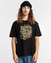 1 Cracks - T-Shirt for Men Black Z1SSP1ELF1 Element