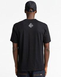 3 Forward - T-shirt pour Homme Noir Z1SSP2ELF1 Element