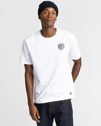 0 Reasoning - T-shirt pour Homme Blanc Z1SSP3ELF1 Element