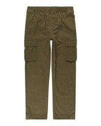 0 Mayari Cargo - Trousers for Boys Green Z2PTB4ELF1 Element