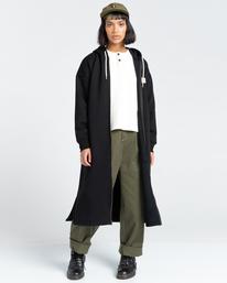3 Lyngdall - Tall Zip-Up Hoodie for Women Black Z3FLC2ELF1 Element