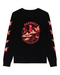 1 Nevso - Long Sleeve T-Shirt for Women Black Z3LSB1ELF1 Element