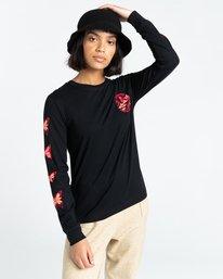 2 Nevso - Long Sleeve T-Shirt for Women Black Z3LSB1ELF1 Element