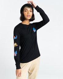3 Karvel - Long Sleeve T-Shirt for Women Black Z3LSB2ELF1 Element