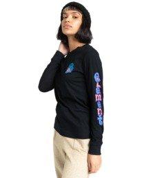 4 Karvel - Long Sleeve T-Shirt for Women Black Z3LSB2ELF1 Element