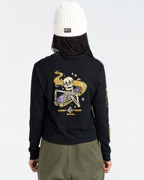 5 Transender - Long Sleeve T-Shirt for Women Black Z3LSB6ELF1 Element