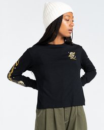 4 Transender - Long Sleeve T-Shirt for Women Black Z3LSB6ELF1 Element
