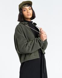 3 Oslo - Zip-Up Sweatshirt for Women Green Z3WAA4ELF1 Element