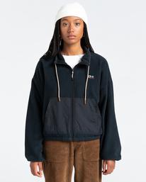 1 Oslo - Zip-Up Sweatshirt for Women Black Z3WAA4ELF1 Element