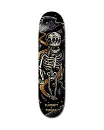 "0 8"" Timber Skeleton - Deck de skateboard pour Unisexe Noir Z4DCA3ELF1 Element"