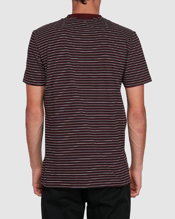 3 CLASSIC STRIPE TEE Red 102001 Element