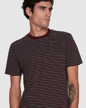 4 CLASSIC STRIPE TEE Red 102001 Element