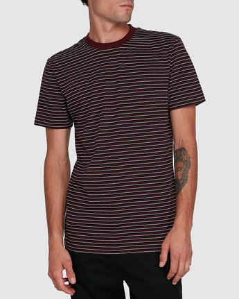 1 CLASSIC STRIPE TEE Red 102001 Element