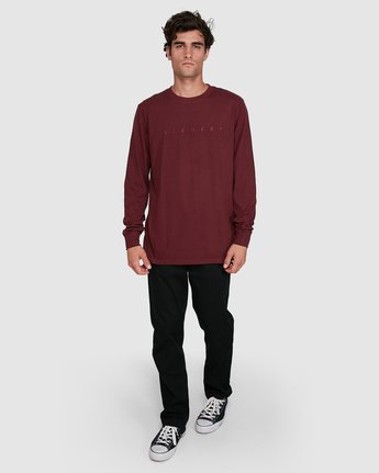 4 GYM LONG SLEEVE TEE Red 102051 Element