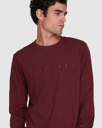 3 GYM LONG SLEEVE TEE Red 102051 Element