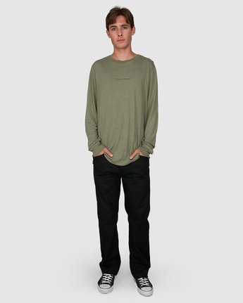 4 Stay Humble Long Sleeve Tee Green 105051 Element