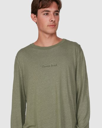 3 Stay Humble Long Sleeve Tee Green 105051 Element