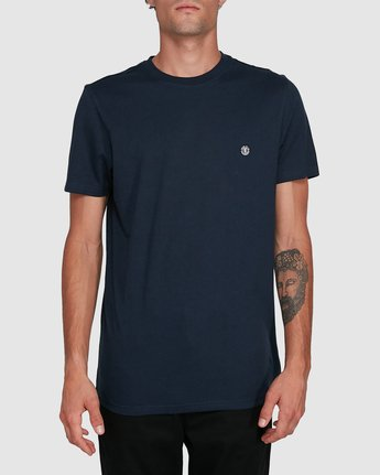 0 Cornell Short Sleeve Tee Blue 107004 Element