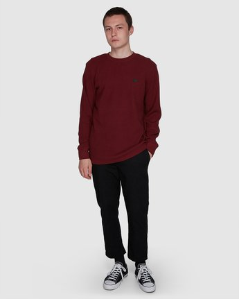 5 SPECTRA LONG SLEEVE TEE Red 107051 Element