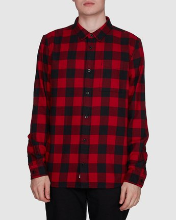 0 Buffalo Ls Shirt Red 107216 Element