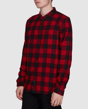 2 Buffalo Ls Shirt Red 107216 Element