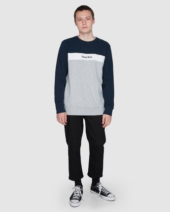 3 Alder Crew Fleece Blue 107302 Element