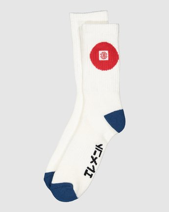 2 Tokyo Socks White 107693 Element