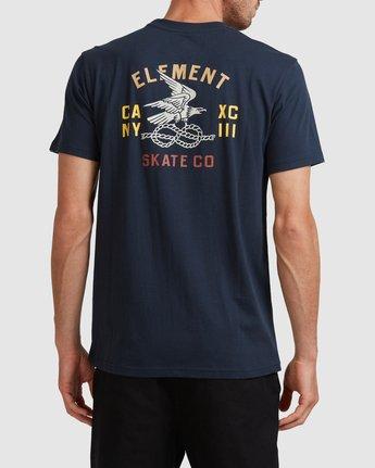 3 CA NY EAGLE SS TEE Blue 117005 Element