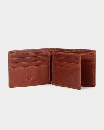 2 Mode Leather Wallet Brown 183572 Element