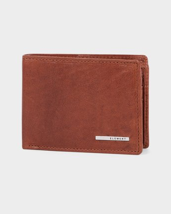 0 Mode Leather Wallet Brown 183572 Element